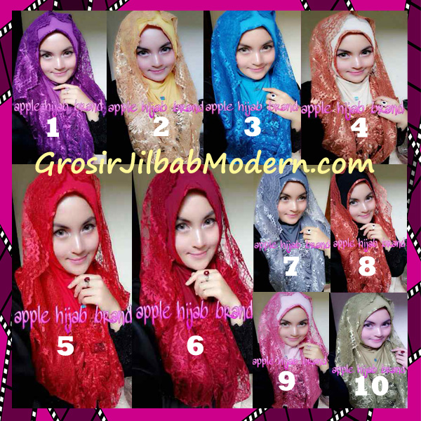 Jilbab Instant Syria Hoodie Layer Maryam by Apple Hijab Brand Series