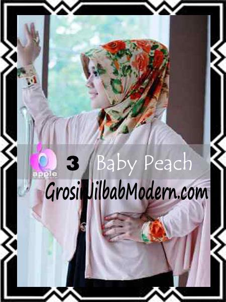 Jilbab Lengan Modern Syar'i Al Waqiah by Apple Hijab Brand No 3 Baby Peach