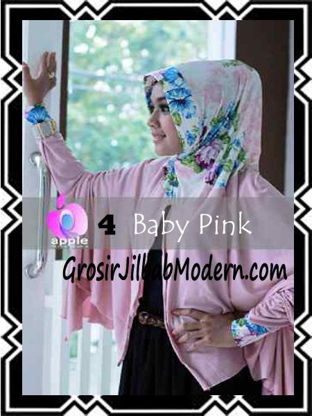 Jilbab Lengan Modern Syar'i Al Waqiah by Apple Hijab Brand No 4 Baby Pink