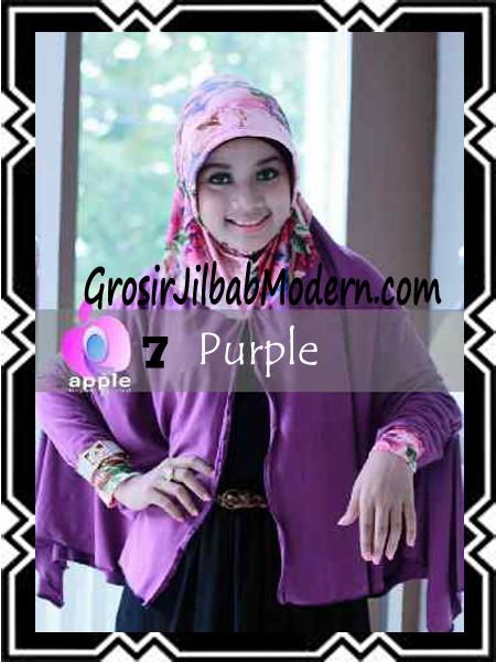 Jilbab Lengan Modern Syar'i Al Waqiah by Apple Hijab Brand No 7 Purple