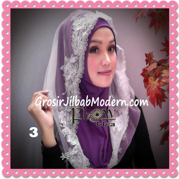 Jilbab Modern Syria Hoodie Tutu Ladiva Original By Flow Idea No 3 Ungu Abu