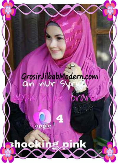 Jilbab Pesta Instant Modern An Nur Syira Sequin by Apple Hijab Brand No 4 Shocking Pink
