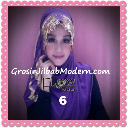 Jilbab Syria Ratu Trendy dan Chic Original by Flow Idea No 6 Ungu