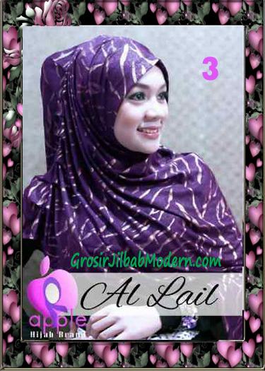 Jilbab Syria Syar'i Modis Al Lail by Apple Hijab Brand No 3 Ungu
