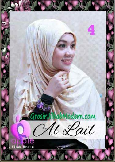 Jilbab Syria Syar'i Modis Al Lail by Apple Hijab Brand No 4 Cream