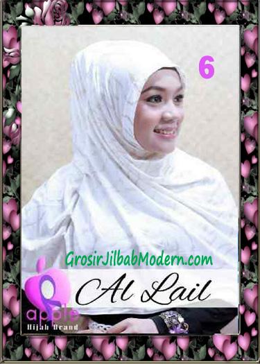 Jilbab Syria Syar'i Modis Al Lail by Apple Hijab Brand No 6 Putih