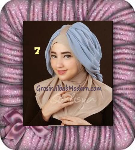 Jilbab Syria Unik Trendy Faustine Original by Qalisya Hijab Brand No 7