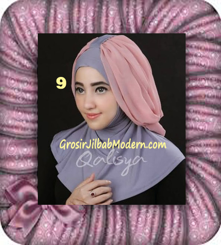 Jilbab Syria Unik Trendy Faustine Original by Qalisya Hijab Brand No 9