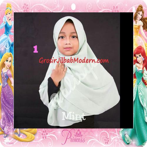 Jilbab Cerutti Cantik Mijwad For Kids Original by Qalisya No 1 Mint