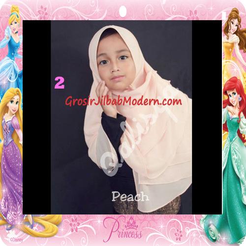 Jilbab Cerutti Cantik Mijwad For Kids Original by Qalisya No 2 Peach