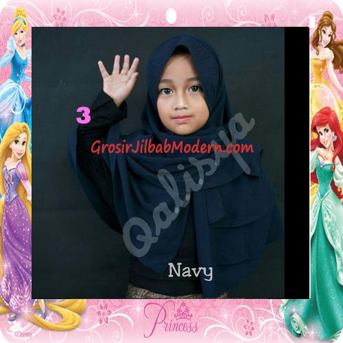 Jilbab Cerutti Cantik Mijwad For Kids Original by Qalisya No 3 Navy