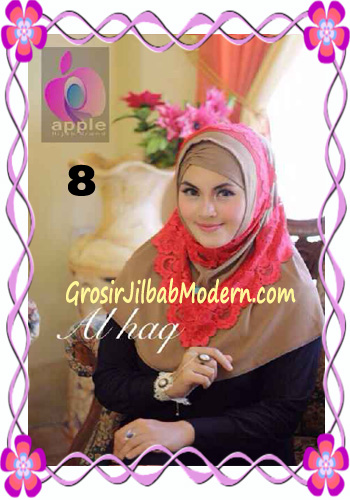 Jilbab Instant Modern Mewah Al Haq by Apple Hijab Brand No 8 Milo
