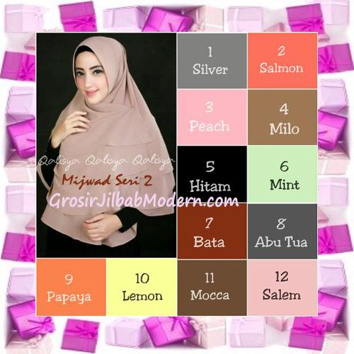 Jilbab Khimar Cantik Mijwad Cerutti Seri 2 Original by Qalisya Series