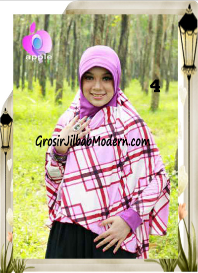 Jilbab Lengan Model Cardigan Luxury Al waqiah Syar'i Blueberry By Apple Hijab Brand No 4 Ungu