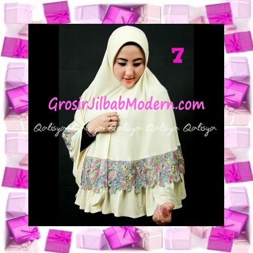 Jilbab Syar'i Qisya Renda 3 Dimensi Original by Qalisya No 7