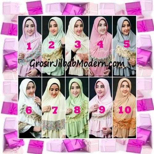 Jilbab Syar'i Qisya Renda 3 Dimensi Original by Qalisya Series