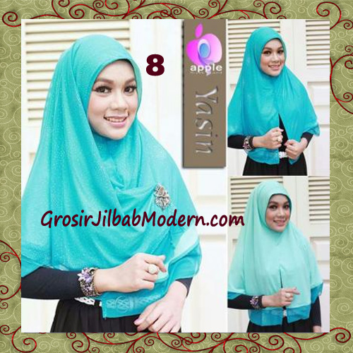 Jilbab Syria Modern Bolak Balik Yasin Mewah by Apple Hijab Brand No 8