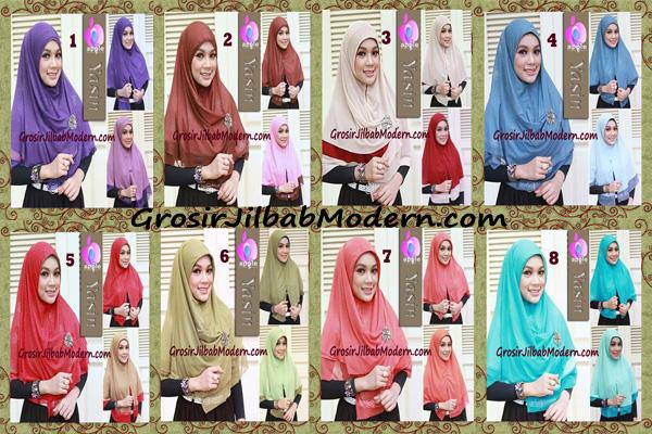 Jilbab Syria Modern Bolak Balik Yasin Mewah by Apple Hijab Brand Series