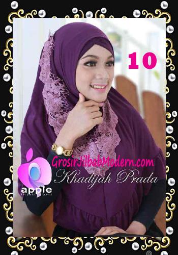Jilbab Syria Syar'i Khadijah Prada Premium by Apple Hijab Brand No 10 Ungu