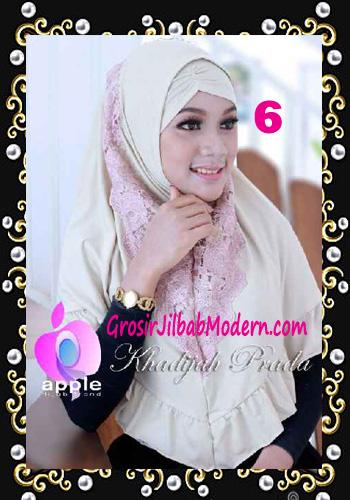 Jilbab Syria Syar'i Khadijah Prada Premium by Apple Hijab Brand No 6 Cream