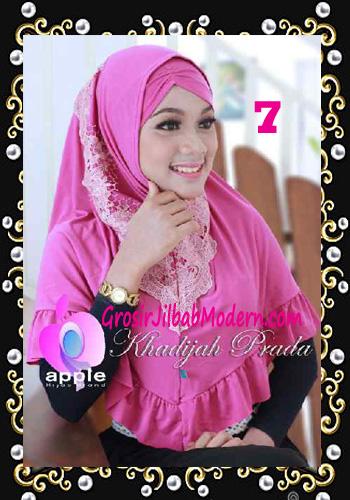 Jilbab Syria Syar'i Khadijah Prada Premium by Apple Hijab Brand No 7 Fanta