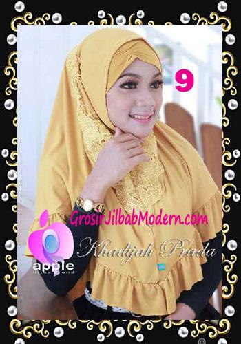 Jilbab Syria Syar'i Khadijah Prada Premium by Apple Hijab Brand No 9 Kuning