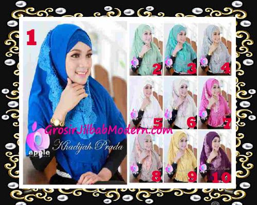 Jilbab Syria Syar'i Khadijah Prada Premium by Apple Hijab Brand Series