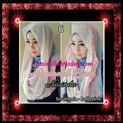Jilbab Hoodie Instant Trendy Nurjannah Original by Narinda No 6