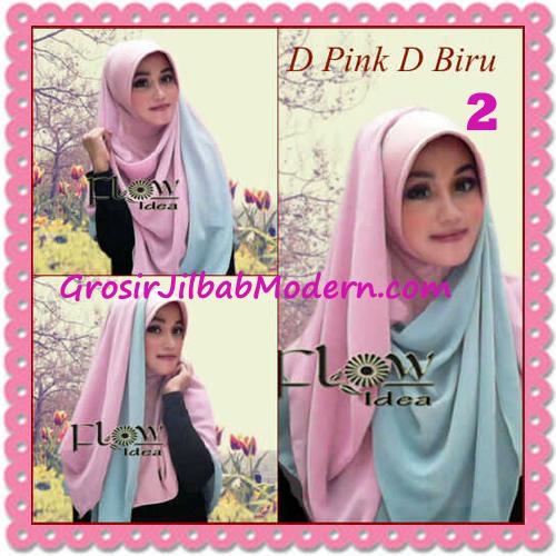 Jilbab Syria Instant Bergo Pet Aliya Model Baru by Flow Idea No 2 D Pink D Biru