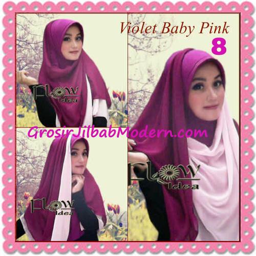 Jilbab Syria Instant Bergo Pet Aliya Model Baru by Flow Idea No 8 Violet Baby Pink