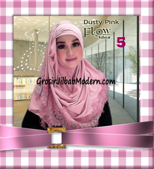 Jilbab Syria Layer Kerut Renda Two Tone Azzahra Original by Flow Idea No 5