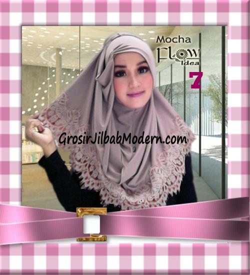 Jilbab Syria Layer Kerut Renda Two Tone Azzahra Original by Flow Idea No 7