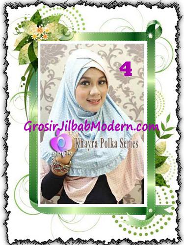 Jilbab Syria Modis Khayra Polka Series Premium by Apple Hijab Brand No 4
