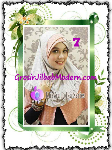 Jilbab Syria Modis Khayra Polka Series Premium by Apple Hijab Brand No 7