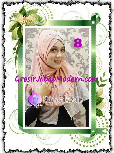 Jilbab Syria Modis Khayra Polka Series Premium by Apple Hijab Brand No 8