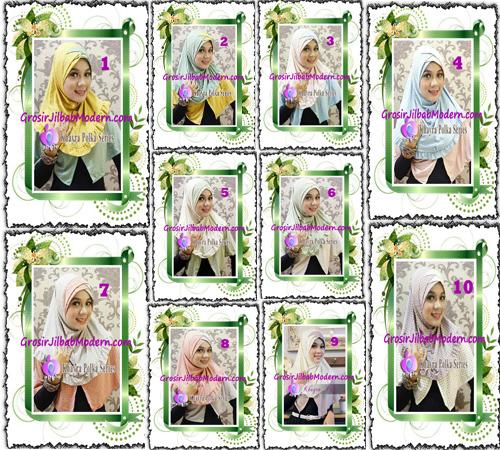 Jilbab Syria Modis Khayra Polka Series Premium by Apple Hijab Brand