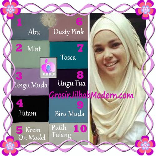 Pashmina Cantik Instant Hanna ala Dewi Sandra Sinetron CHSI Original by Apple Hijab Brand - Baru