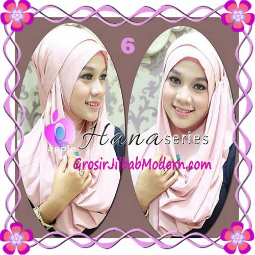 Pashmina Cantik Instant Hanna ala Dewi Sandra Sinetron CHSI Original by Apple Hijab Brand No 6 Dusty Pink
