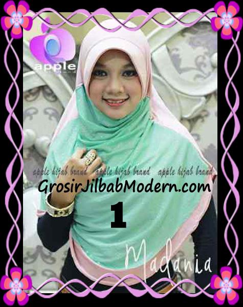 Jilbab Instant Cantik Syria Pet Madania Original Apple Hijab Brand No 1