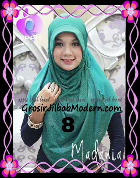 Jilbab Instant Cantik Syria Pet Madania Original Apple Hijab Brand No 8
