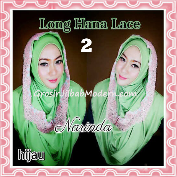 Jilbab Instant Long Hana Lace CHSI Original by Narinda No 2 Hijau