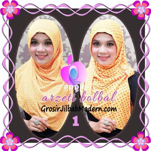 Jilbab Syria Arzety Bolak Balik Polka Bintang Original Apple Hijab Brand No 1 Gold
