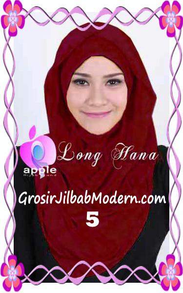 Jilbab Syria Long Hana Zaskia Original Apple Hijab Brand No 5 Maron