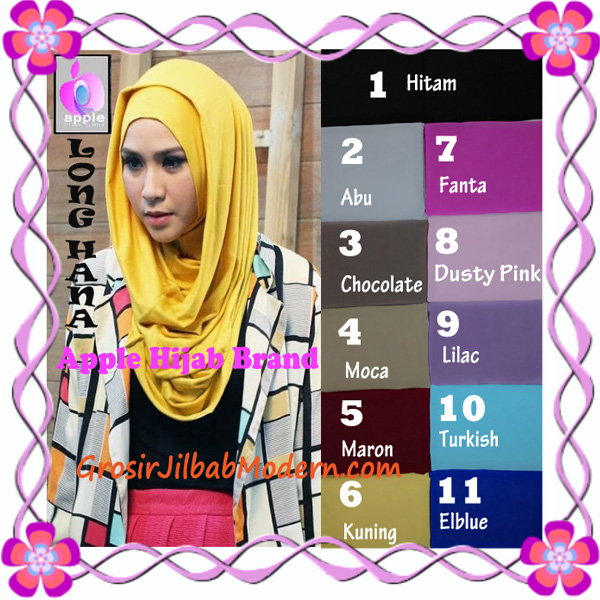 Jilbab Syria Long Hana Zaskia Original Apple Hijab Brand Series