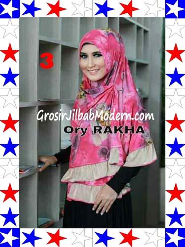 Jilbab Bolak Balik Jersey Flower 4 by Rakha No 3