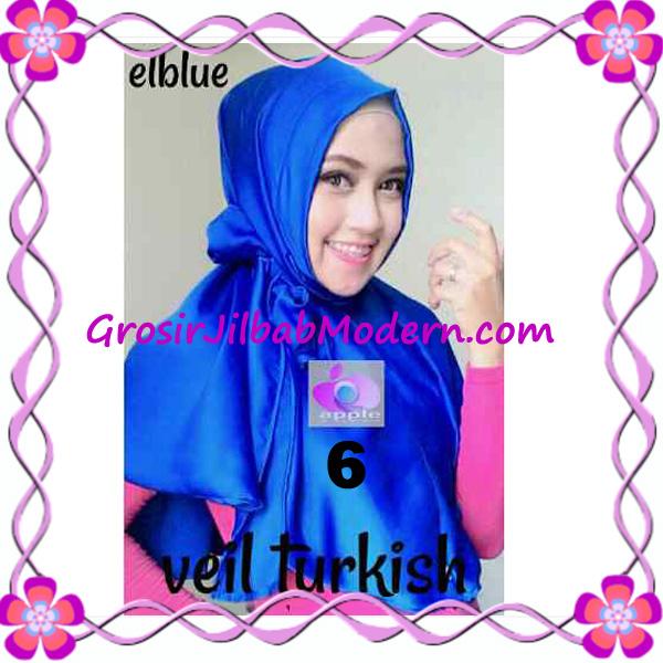 Jilbab Instant Cantik Exclusive Veil Turqish by Apple Hijab Brand No 6 Elblue - Elektrik