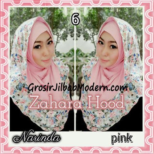 Jilbab Instant Hoodie Zahara Bunga Cantik By Narinda No 6 Pink