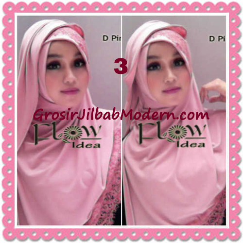 Jilbab Instant Syria Renda Silang Trendy Annisa by Flow Idea No 3 Dusty Pink