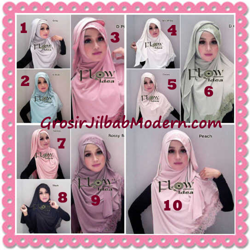 Jilbab Instant Syria Renda Silang Trendy Annisa by Flow Idea Series