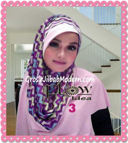 Jilbab Pashmina Instan Modern Zigzagy By Flow Idea No 3 Pink